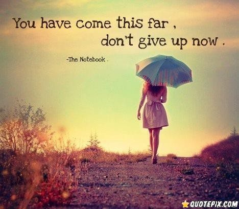no giving up